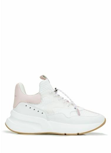 Alexander McQueen Alexander McQueen Colorblocked Kadın Deri Sneaker 101638756 Beyaz